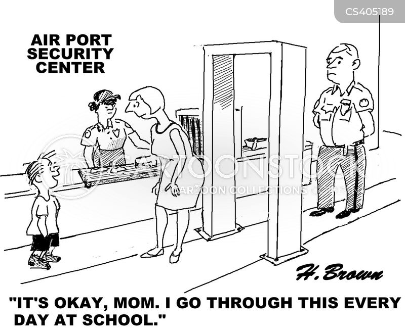 school security cartoons and comics funny pictures from cartoonstock