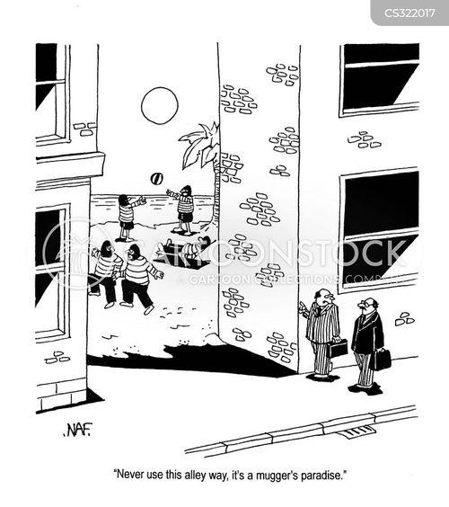 alleyway cartoon