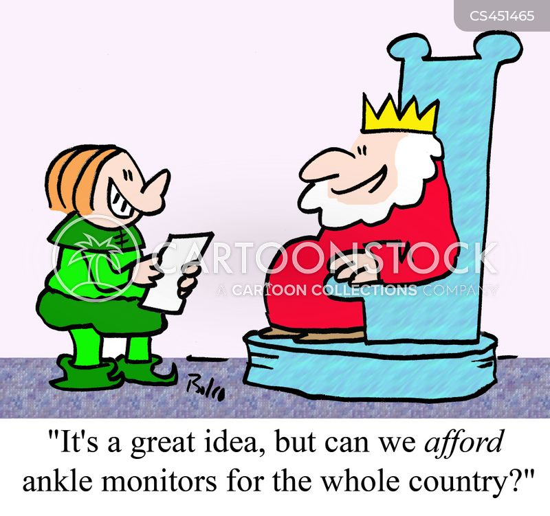 ankle monitor cartoon