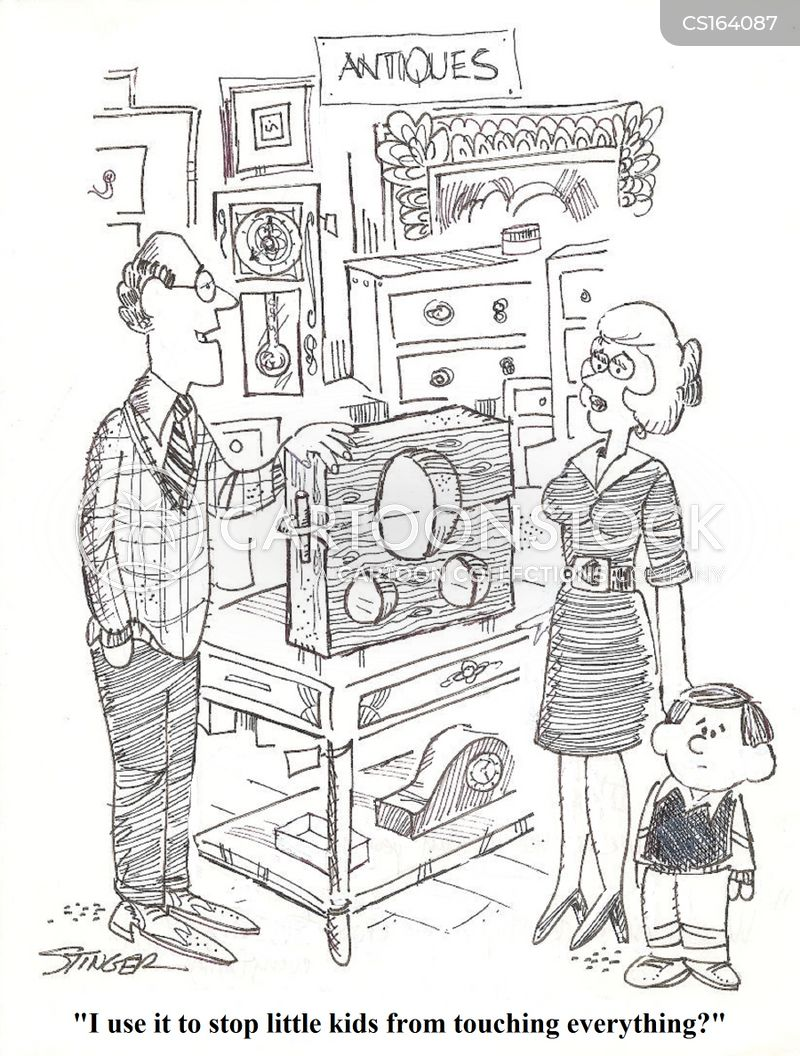 antique store cartoon