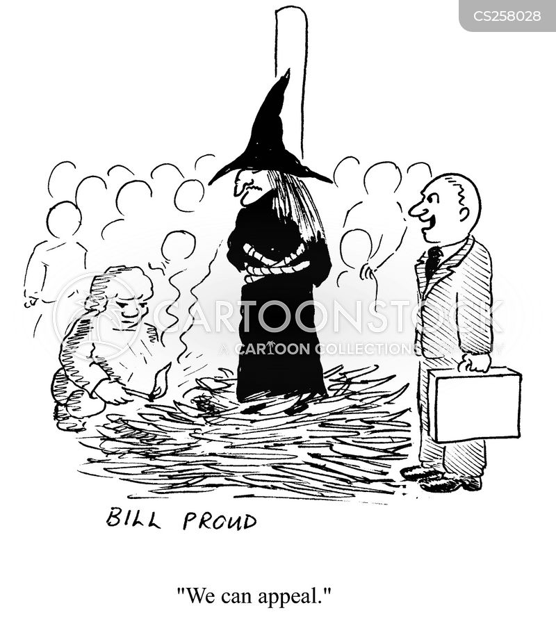 witch trials cartoon