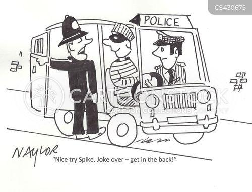 police van cartoon