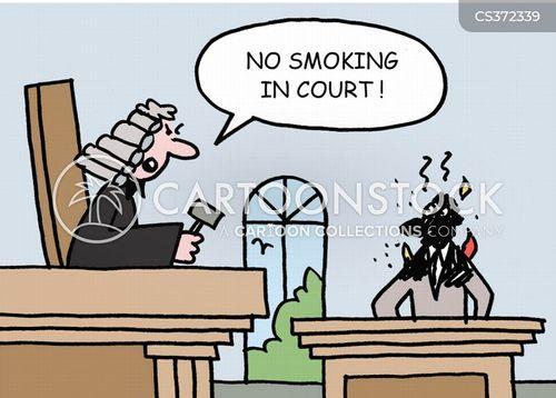 no smoking zones cartoon