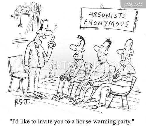 pyromaniac cartoon