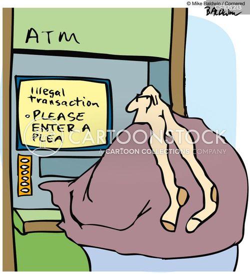 automated teller machine cartoon