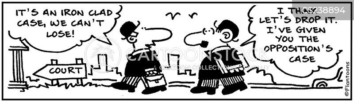 opposing cartoon