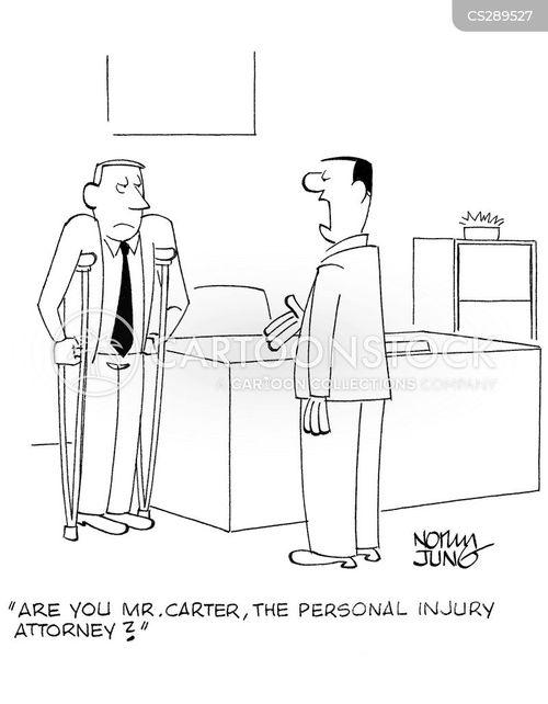 injury lawyer cartoon