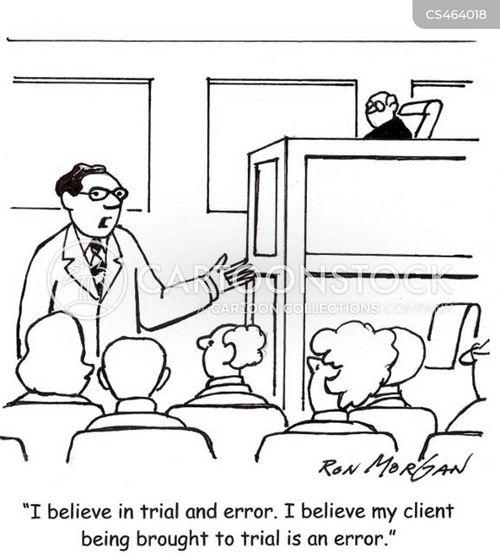 innocent plea cartoon