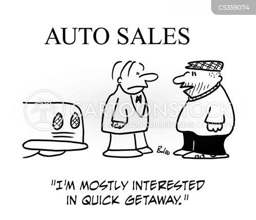 quick getaway cartoon