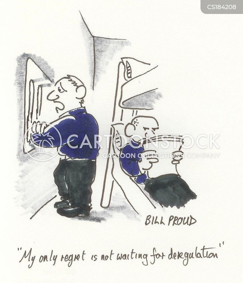 deregulated cartoon