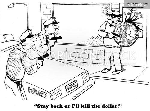 bank thief cartoon