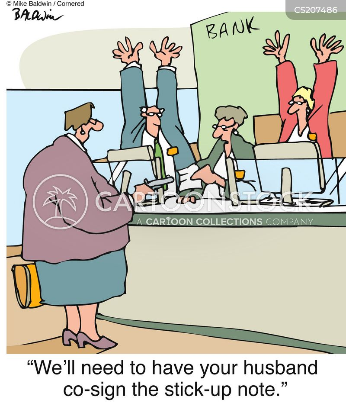 bank heist cartoon