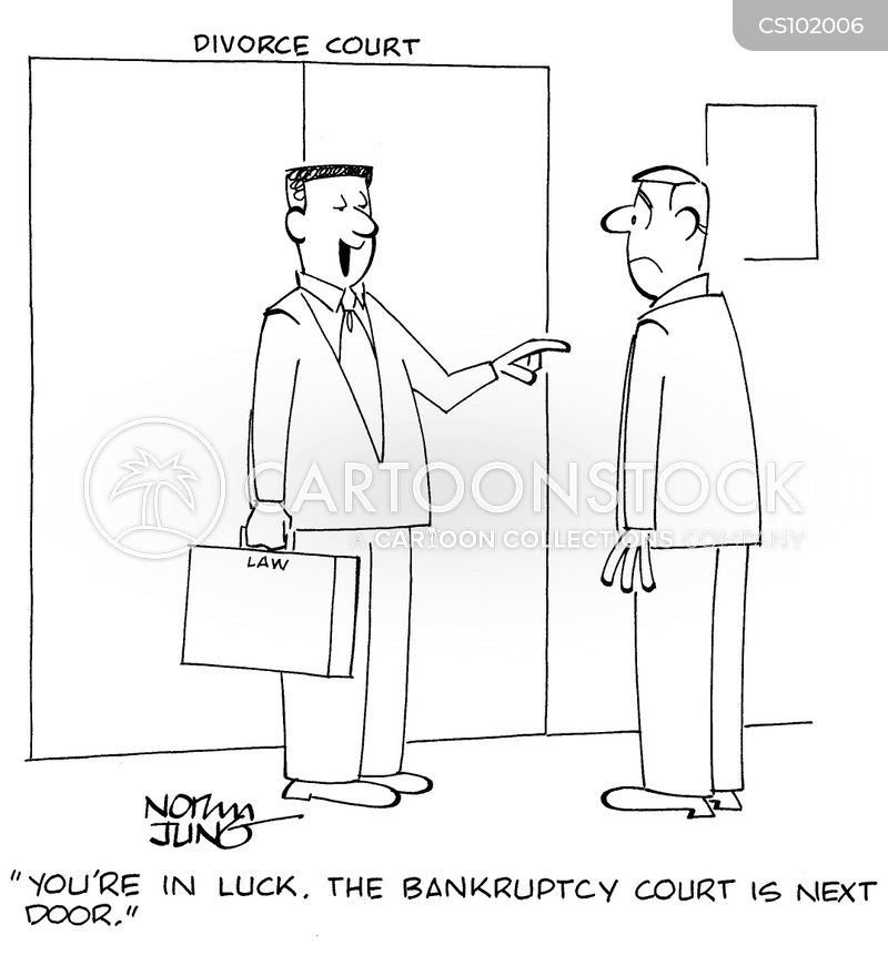 bankruptcy courts cartoon