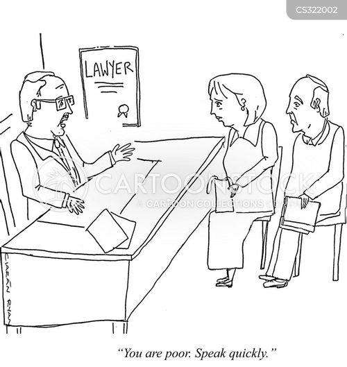 legal aid cartoon