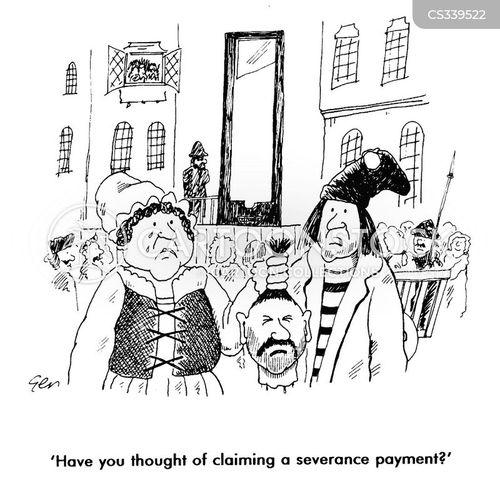 severance payment cartoon