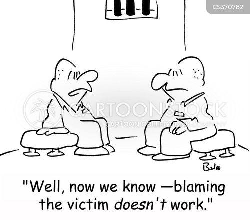 victim of crime cartoon