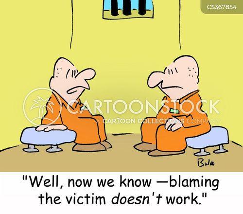 victims of crime cartoon