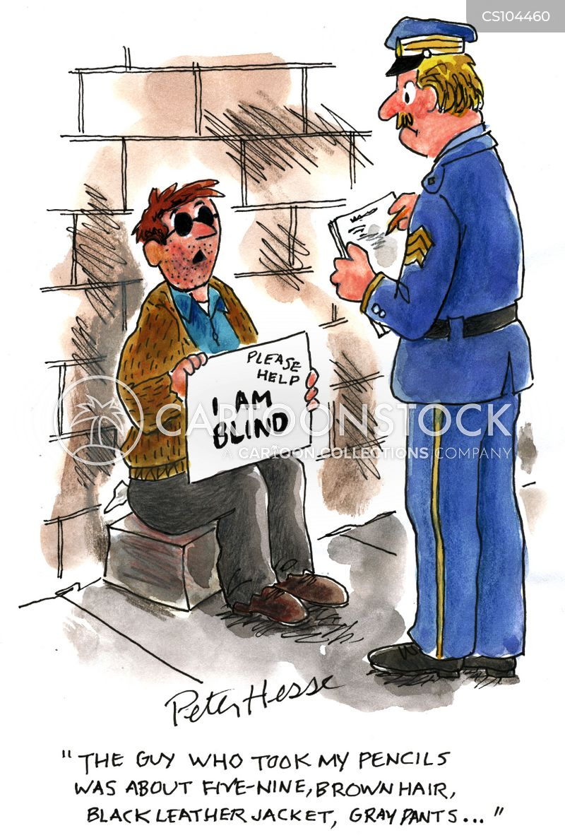 Blind People Cartoons And Comics Funny Pictures From Cartoonstock