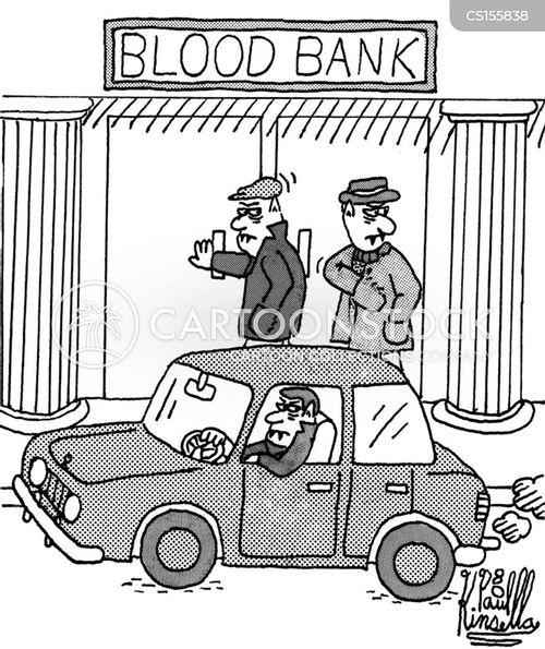 blood bank cartoon
