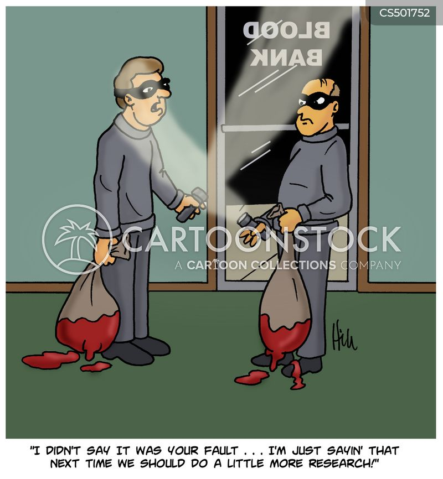 bank job cartoon