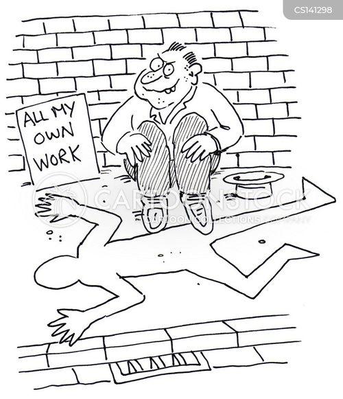 outline cartoon