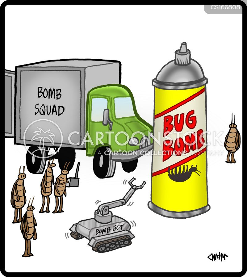 bombing cartoon