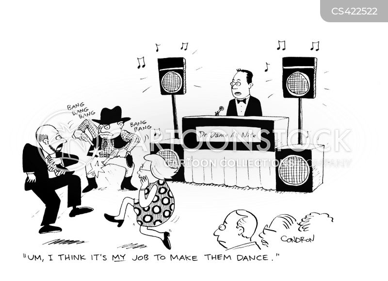 disc jockeys cartoon