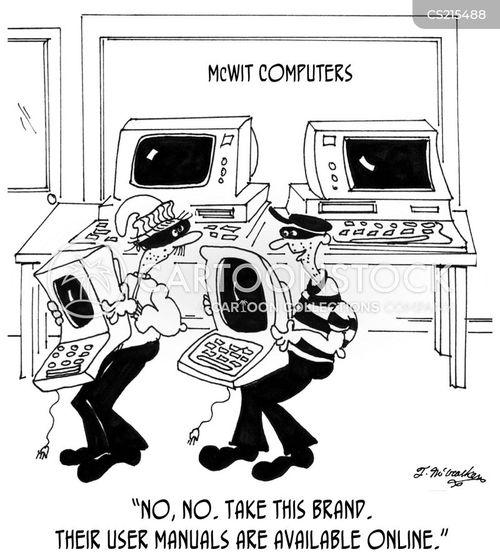 computer lab cartoon