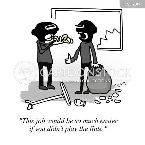 flutist cartoon