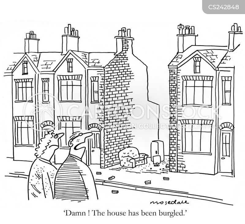 property theft cartoon