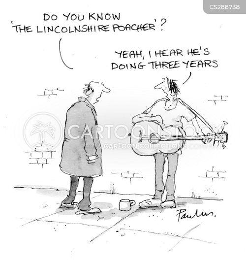 folk musician cartoon