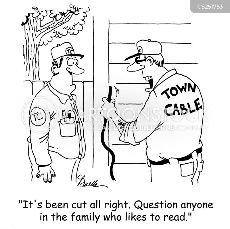 cable guy cartoon
