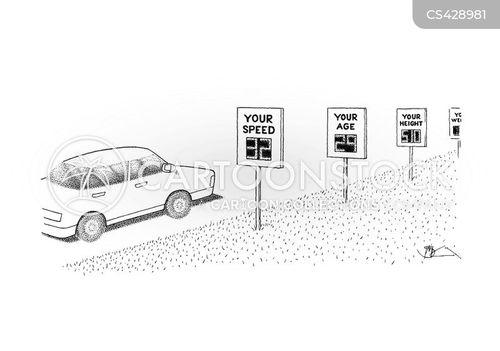 street sign cartoon