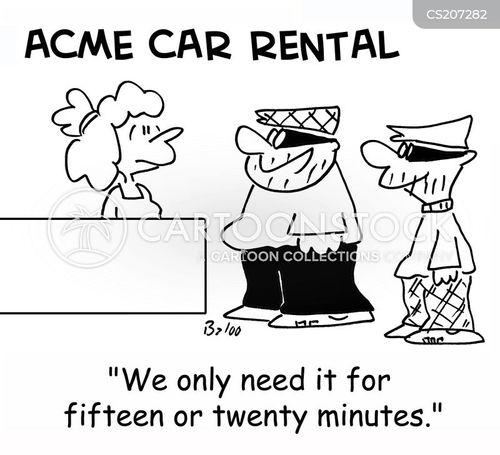 getaway vehicles cartoon