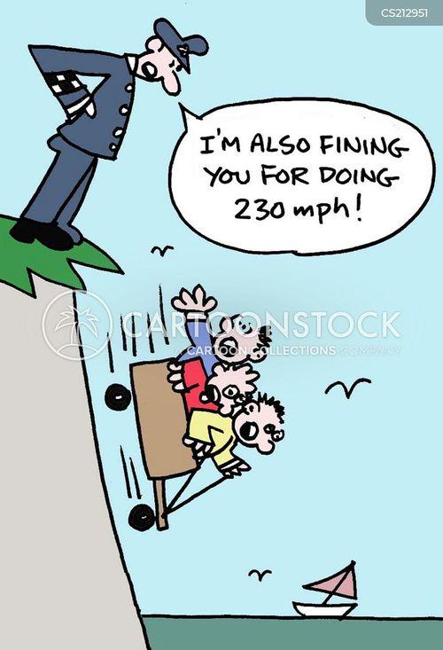 fall off a cliff cartoon