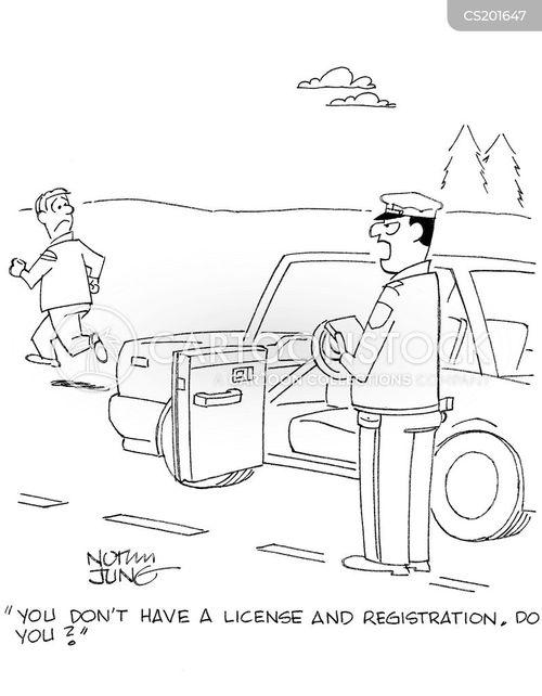 license cartoon