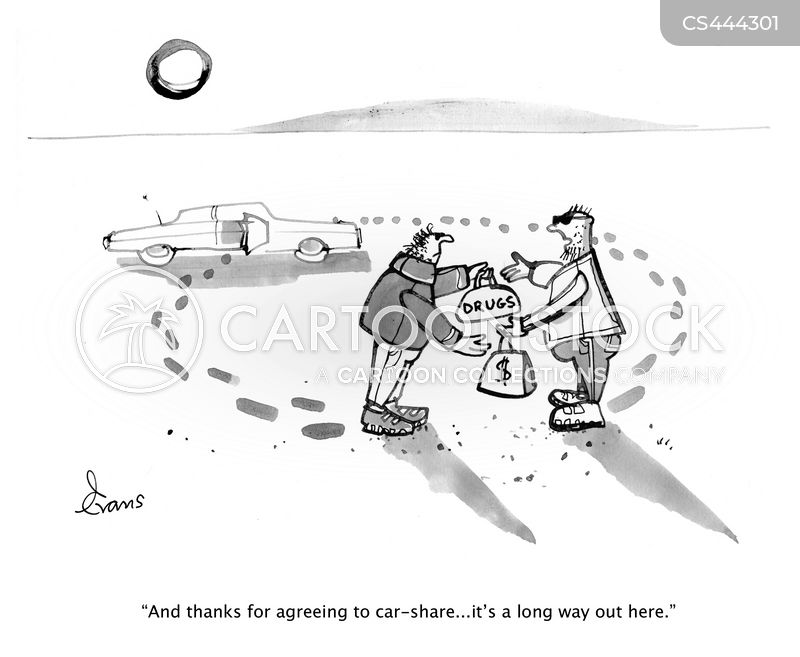 ridesharing cartoon