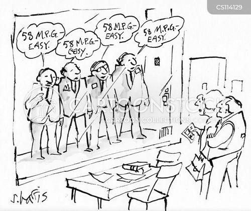 auto salesman cartoon