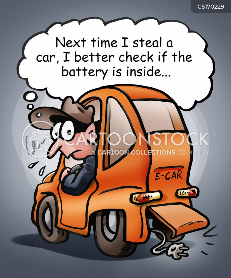 car thieves cartoon