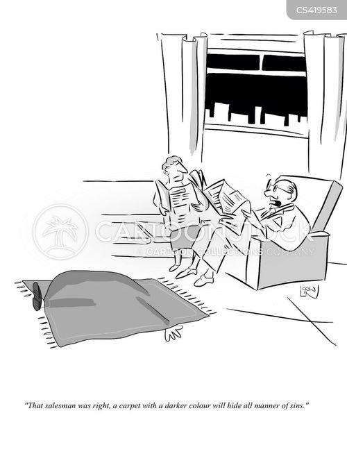 staining cartoon