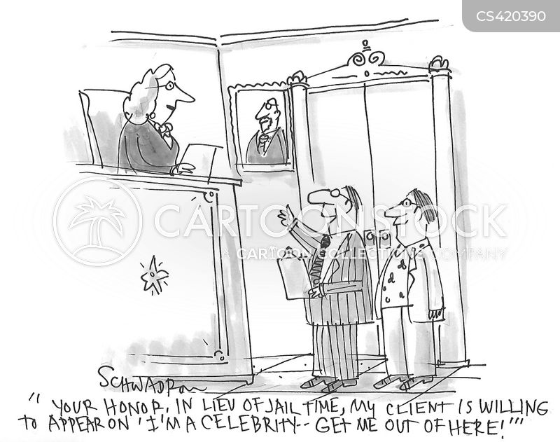 celebrity trials cartoon