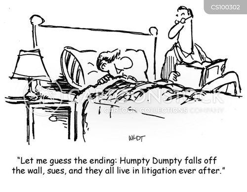 litigations cartoon