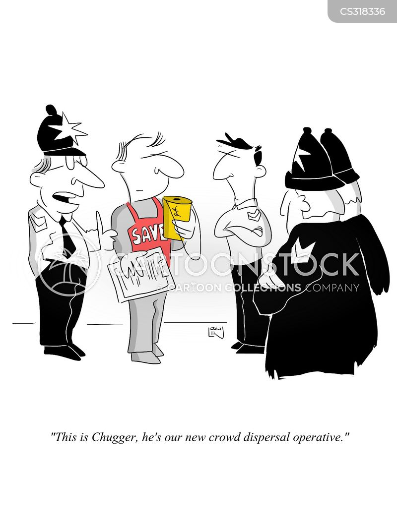 charity fundraising cartoon