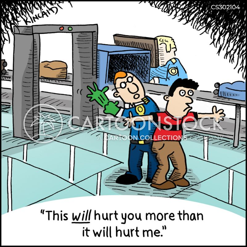 transport and security administration cartoon