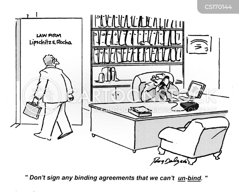 contracting cartoon