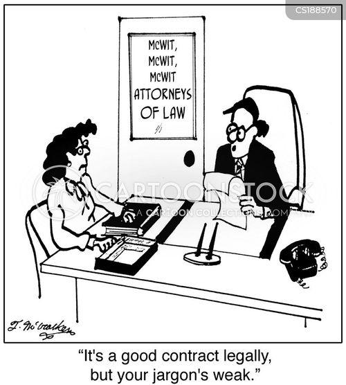 legal speak cartoon