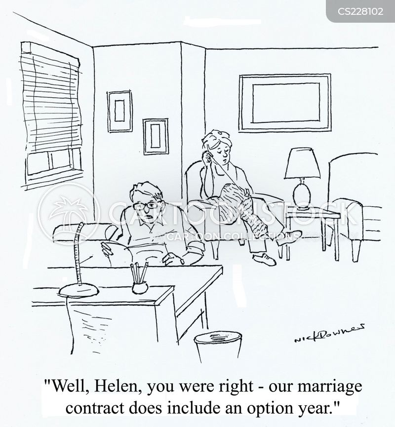 Marriage Contract Cartoons And Comics  Funny Pictures From Cartoonstock