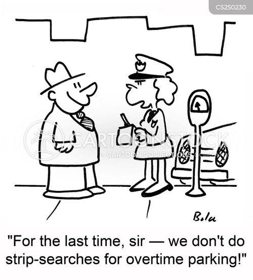 strip searches cartoon