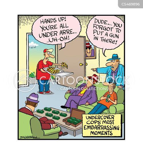 undercover police cartoon