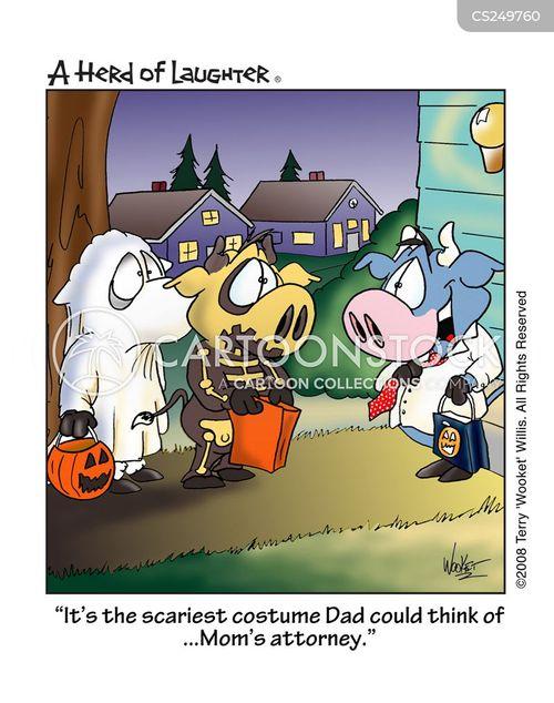 scary costume cartoon